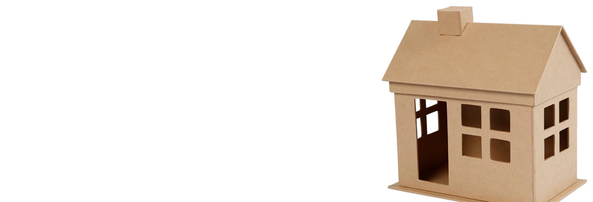 Casas y vehículos decorativos