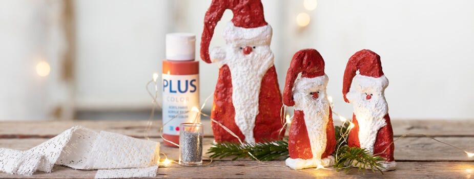 Elfos y papás Noel hechos a mano