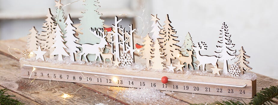 Decoraciones navideñas con velas