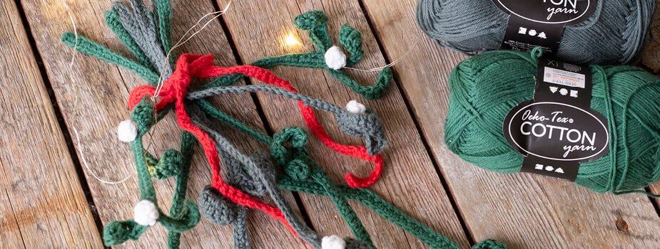 Decoraciones de Navidad de punto y ganchillo