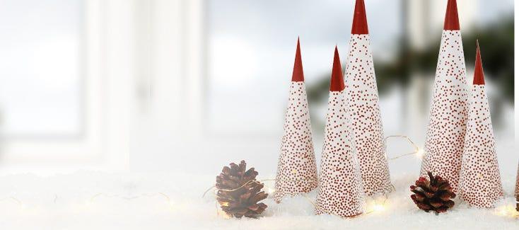 Decoraciones navideñas hechas a mano