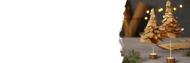 Papel imitación al cuero Navidad