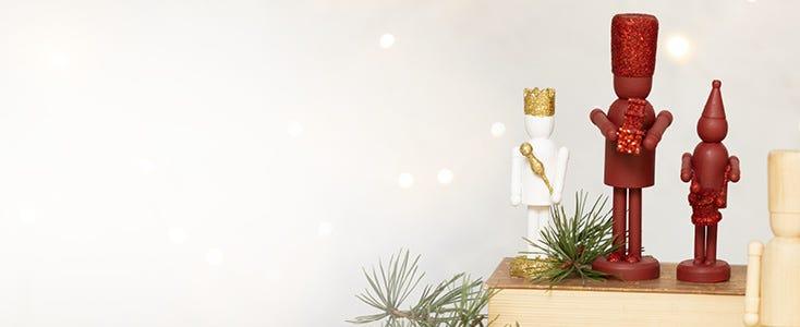 Decoraciones de Navidad con el cascanueces