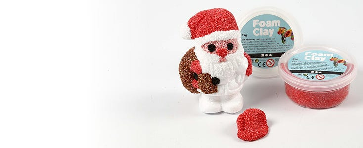 Decoraciones navideñas con Foam Clay y Silk Clay
