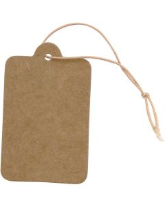 Etiqueta, medidas 25x40 mm, marrón claro, 100 ud/ 1 paquete