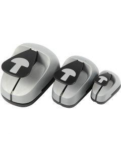 Set de troqueles para manualidades, Seta, medidas 25+50+75 mm, 3 ud/ 1 paquete