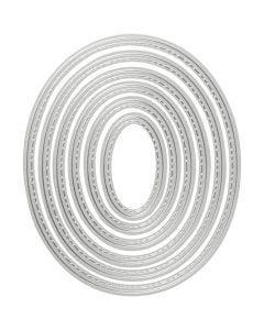 Carpeta troquel y grabado en relieve, Óvalo, medidas 5x3-12x10 cm, 1 ud