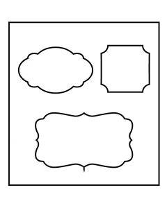 Troquel de formas, Etiquetas, medidas 14x15,25 cm, grosor 15 mm, 1 ud