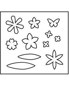 Troquel de formas, Flores, medidas 14x15,25 cm, grosor 15 mm, 1 ud