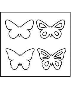 Troquel de formas, Mariposas, medidas 14x15,25 cm, grosor 15 mm, 1 ud