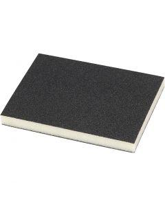 Esponja de lijar, 120 de firmeza, medidas 9,5x12 cm, 4 ud/ 1 paquete