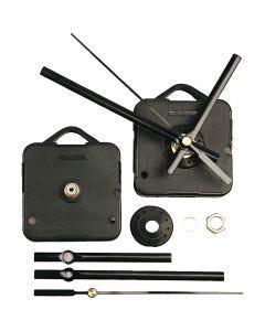 Mecanismos de funcionamiento para reloj, grosor máximo placa 3 mm, negro, 1 set
