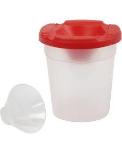 Bote anti derrame, A: 8,5 cm, dia: 8 cm, 250 ml, 15 ud/ 1 paquete