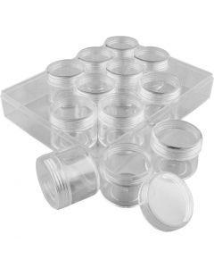 Contenedores de almacenamiento, A: 30 mm, dia: 35 mm, 20 ml, 12 ud/ 1 set