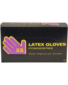 Guantes de látex, medidas x-small , 100 ud/ 1 paquete