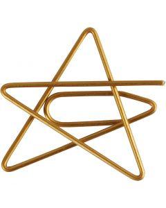 Clips, Estrella, medidas 30x30 mm, dorado, 6 ud/ 1 paquete