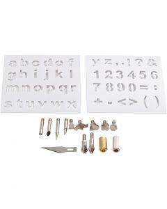 Puntas de metal, dia: 1-15 mm, 1 set