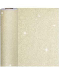 Papel de regalo, A: 50 cm, 80 gr, dorado, 100 m/ 1 rollo