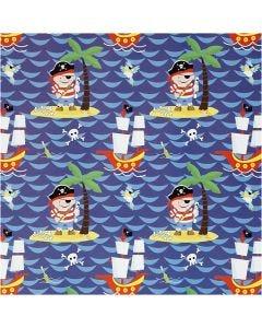 Papel de regalo, pirates, A: 50 cm, 80 gr, 5 m/ 1 rollo