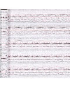 Papel de regalo, doodles, A: 70 cm, 80 gr, rojo, blanco, 4 m/ 1 rollo