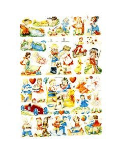 Cromos Vintage, 16,5x23,5 cm, 2 hoja/ 1 paquete
