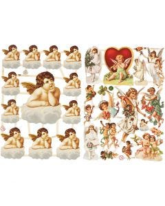 Cromos Vintage, Ángeles, 16,5x23,5 cm, 2 hoja/ 1 paquete