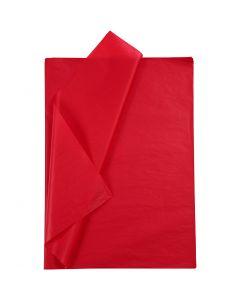 Papel de seda, 50x70 cm, 14 gr, rojo, 10 hoja/ 1 paquete