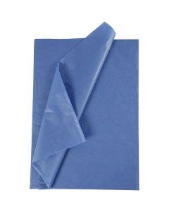 Papel de seda, 50x70 cm, 14 gr, azul, 10 hoja/ 1 paquete