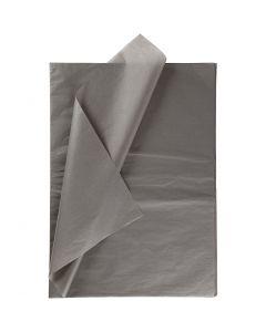 Papel de seda, 50x70 cm, 14 gr, gris oscuro, 10 hoja/ 1 paquete