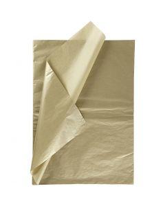 Papel de seda, 50x70 cm, 14 gr, dorado, 6 hoja/ 1 paquete