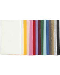 Papel de seda, 50x70 cm, 14 gr, surtido de colores, 15x2 hoja/ 1 paquete