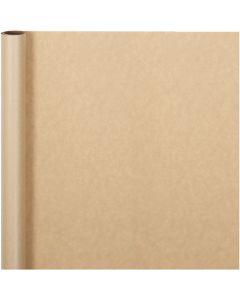 Papel de regalo, A: 50 cm, 60 gr, natural, 5 m/ 1 rollo