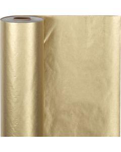 Papel de regalo, A: 50 cm, 60 gr, dorado, 100 m/ 1 rollo