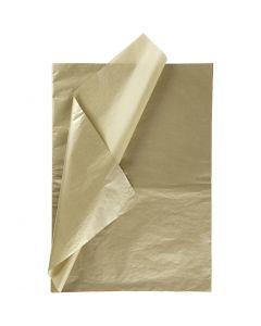 Papel de seda, 50x70 cm, 14 gr, dorado, 25 hoja/ 1 paquete