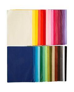 Papel de seda, A4, 210x297 mm, 14 gr, 30x10 hoja/ 1 paquete