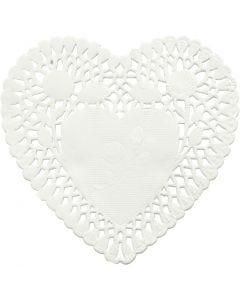 Blondas, forma de corazón, dia: 10 cm, 30 ud/ 1 paquete