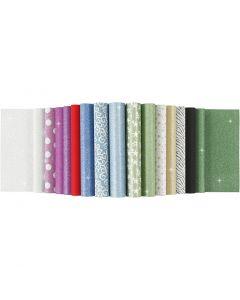 Bloc de papeles con purpurina, A4, 210x297 mm, 150 gr, 30 hoja/ 1 ud