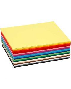 Cartulina kraft coloreada, A6, 105x148 mm, 180 gr, surtido de colores, 120 hojas stdas/ 1 paquete