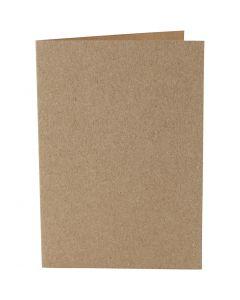 Tarjetas, medida tarjeta 10,5x15 cm, 220 gr, natural, 10 ud/ 1 paquete