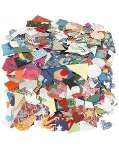 Die-cuts de papeles hechos a mano, medidas 25-130 mm, 110 gr, 500 gr/ 1 paquete