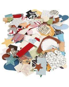 Die-cuts de papeles hechos a mano, medidas 25-130 mm, 110 gr, 100 gr/ 1 paquete