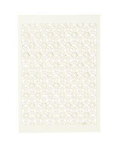 Cartulina con dibujos de encaje, 10,5x15 cm, 200 gr, blanquecino, 10 ud/ 1 paquete