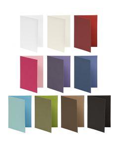 Tarjeta de felicitación, medida tarjeta 10,5x15 cm, El contenido puede variar , 250 gr, surtido de colores, 30 paquete/ 1 paquete