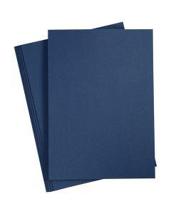 Tarjeta, A4, 210x297 mm, 220 gr, azul, 10 ud/ 1 paquete