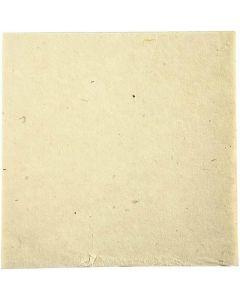 Papel de tela hecho a mano, 20x20 cm, 70 gr, blanquecino, 10 hoja/ 1 paquete