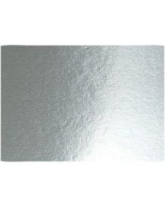 Cartulina metalizada, A4, 210x297 mm, 280 gr, plata, 10 hoja/ 1 paquete