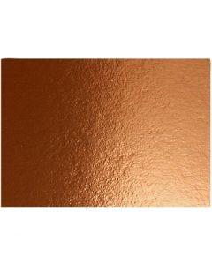 Cartulina metalizada, A4, 210x297 mm, 280 gr, cobre, 10 hoja/ 1 paquete