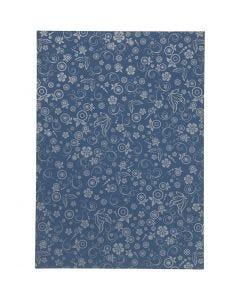 Papel , A4, 210x297 mm, 80 gr, azul, 20 hoja/ 1 paquete