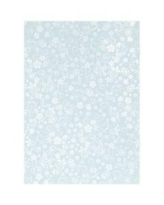 Papel , A4, 210x297 mm, 80 gr, azul claro, 20 hoja/ 1 paquete