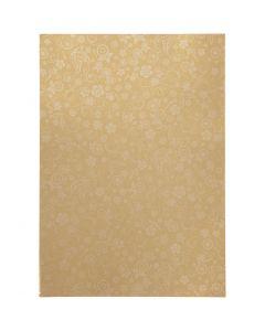 Papel , A4, 210x297 mm, 80 gr, dorado, 20 hoja/ 1 paquete